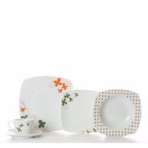 Vajilla Murano Cuadrada De Ceramica 24 Pzs Crown Baccara