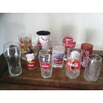 Coleccion De 10 Vasos De Cocacola De Vidrio Diferentes