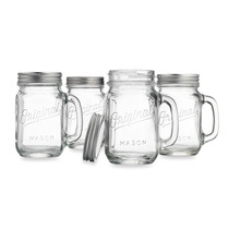 Mason Jar Original 16oz. Tarro Con Tapa Metalica Set De 4