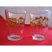 Vasos De Vidrio Con Figuras