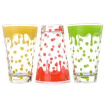 Juego De 3 Vasos Altos De Vidrio De Colores - Crown Baccara