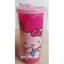 Fiesta De Hello Kitty, Vaso Con Tapa, Original Sanrio