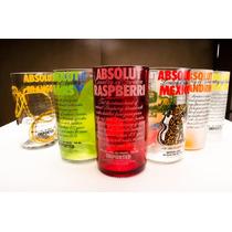 Vaso Ecologico Botella Vidrio Absolut Vodka Diseños Precios