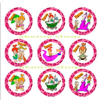 Baby Pebels O Bambam 24 Distintivos Adheribles Fiesta