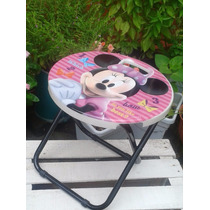 Silla Plegable De Hello Kitty Ó Minnie Mouse, Originales