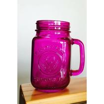 County Fair Drinking Jar Vidrio Gallo Color Morado
