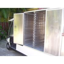 Carro/carrito Tipo Industrial Con Caja Seca Para Comida
