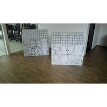 Casitas De Carton Pintables Pepa Y Frozen