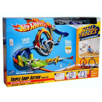 Hot Wheels Wall Track Triple Loop Action Pista Triple Vuelta