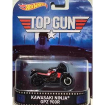 Hot Wheels Moto Top Gun Kawasaki Ninja Gpz Retro Real Riders