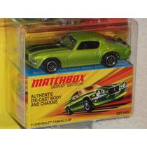 Matchbox 71 Chevrolet Camaro Z-28 Clasico