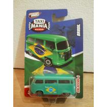 Taxi Mania Mundo Vw Volkswagen Combi Brasil Verde