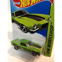 Hotwheels ´70 Camaro Verde #231 2014 Hw Workshop
