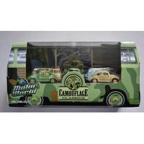 Diorama Vw Volkswagen 2 Samba Bus 2 Beetle Panel Camouflage