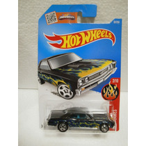 Hot Wheels Flames 67 Chevelle Ss 396 Negro 92/250 2016