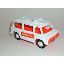 Ambulancia Rescue Van Tootsietoy Metal Plástico 2 Calcomania