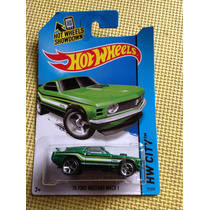 Hot Wheels 70 Ford Mustang Mach 1 (verde)