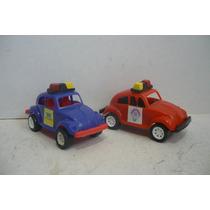 Vocho Vw Beetle Patrulla Set De 2 - Camion Juguete Escala