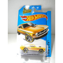 Hot Wheels 70 Ford Mustang Mach 1 Amarillo 97/250 2014
