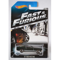 1967 Ford Mustang Rapido Y Furioso Fast Furious Tarj Negra
