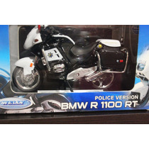 Moto Police Version Bmw R 1100 Rt Escala 1:18 Welly Die Cast