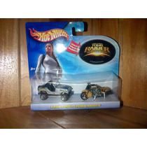 Tom Raider Lara Croft Hot Wheels Jeep Y Motocicleta Set