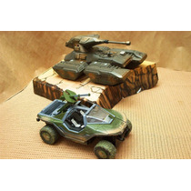 Lee Mi Anuncio Lote Halo Vehiculo Warthog & Tanque Scorpion