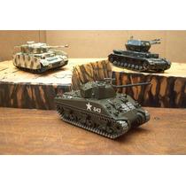 Lee Mi Anuncio Lote 2 Tanque Panzer & Sherman 1/48