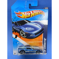 2011 Hot Wheels Main Street 11 C6 Corvette Azul Police