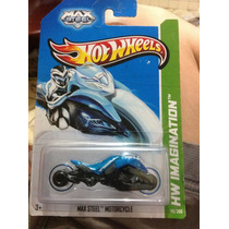 Hot Wheels Max Steel Motorcycle 2013 Gris Azul