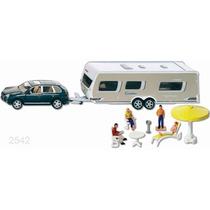 Siku Camioneta Remolque Camper Figuras 1/55 No Hotwheels