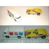 2pk Colceccion Carritos Coca Pepsi Camion Dragster Hotwells