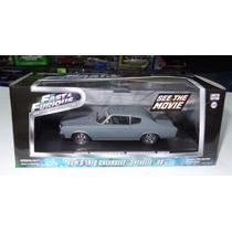1:43 Chevrolet Chevelle Gris Rapido Y Furioso Greenlight