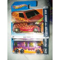 Gcg Lote Camionetas Van Hot Wheels Retro 2 Pzas