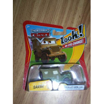 Cars Disney Pixar *** Sarge Look! My Eyes Change! *** Mattel
