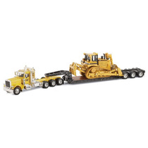 Caterpillar Kenworth Con Tractor Cat D8r Escala 1:50