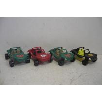 Vw Jeep Buggy Vocho Set De 4 - Carrito Juguete Coche Escala