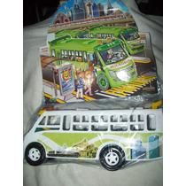 Gcg Camion Microbus Blanco De Plastico 25 X 9 Cm Daa