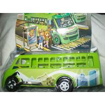 Gcg Camion Microbus Verde Mexicano Plastico 25 Centimetros