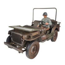 Jeep Willys 1/4 Ton Us Army Truck Ww2 Con Diorama 1/18 Welly