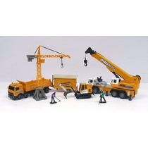 Set Grua Torre Camion Excavadora Caseta Obreros Esc 1:60