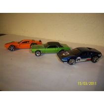 Hot Wheels Lote 3 Coches Ferrari Ford Cougar Dodge Charger