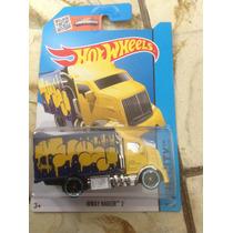 Ñu* Hot Wheels Hiway Hauler 2 (amarillo Con Azul) 2015
