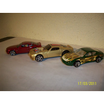 Hot Wheels Lote3 Coches Ferrari 456m Pontiac 70 Mustang Gt