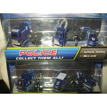 Gcg Lote Carritos Police Micro Sistemz 2 Blister Escala Bbf