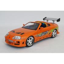 Toyota Supra 1996 Rápido Y Furioso Escala 1:18 Jada