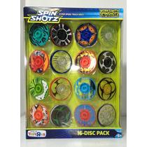 Hot Wheels Spin Shotz Paquete Con 16 Discos