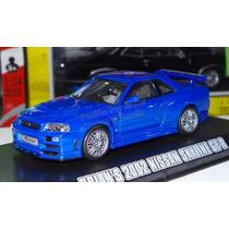 1:43 Nissan Skyline Gt-r 2002 Rapido Y Furioso Greenlight