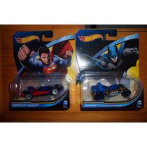 Set 2 Autos Hot Wheels Colección Dc Batman Vs Superman