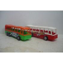 Autobus De Pasajeros Set De 2 - Camion De Juguete Escala